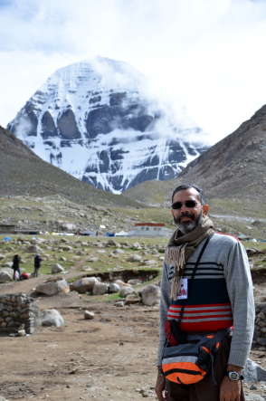 @PrakashSwamy at Kailash - Lord Shiva's abode.