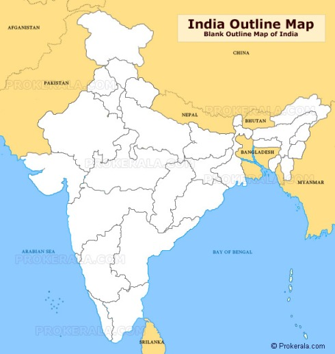 india-outline-map
